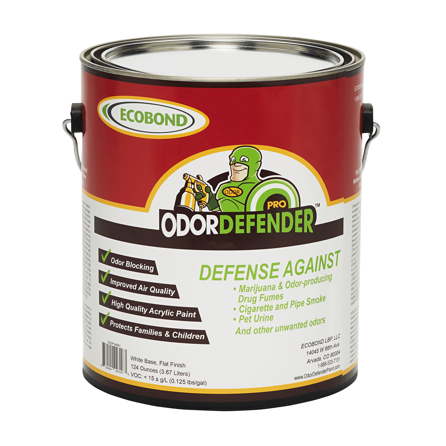 ECOBOND® OdorDefender® 1 Gallon - Smoke Odor Eliminator - Odor Blocking  Paint